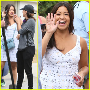 Gina Rodriguez & Eva Longoria Film 'Jane the Virgin' Season 3!