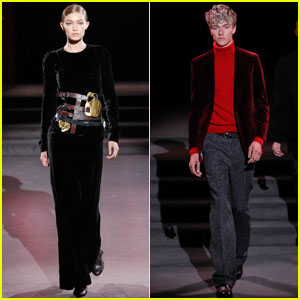 Gigi Hadid Hits the Tom Ford Catwalk With Lucky Blue Smith