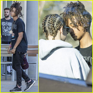 Jaden Smith & Girlfriend Sarah Snyder Share a Sweet Moment