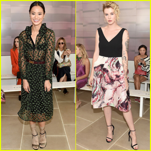 Ireland Baldwin, Sami Gayle & Jamie Chung Stop By Monique Lhuillier's Show at NYFW