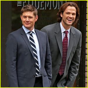 Jared Padalecki Films 'Supernatural' Season 12 Scenes with Jensen Ackles!