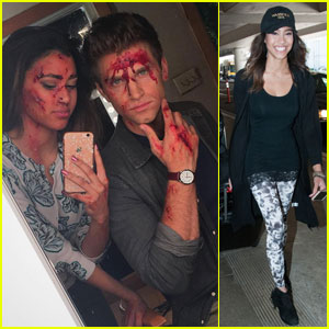 Kara Royster Shares Bloody Selfie With 'PLL' Co-Star Keegan Allen