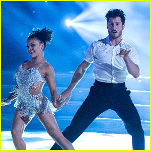 Laurie Hernandez & Val Chmerkovskiy Deliver An Epic Cha Cha For DWTS Premiere