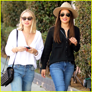 Lea Michele & Becca Tobin Lunch Together After the Beyonce Concert