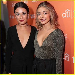 Sarah Hyland Hangs With Lea Michele at No Kid Hungry Dinner