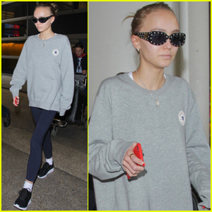 Lily-Rose Depp Arrives Back in LA After Short Trip to Paris