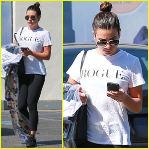 Lea Michele Goes 'Rogue' While Out in LA