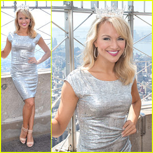 Miss America 2017 Savvy Shields Visits The Empire State Building in NYC