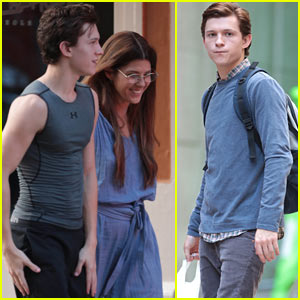 Tom Holland is Joined by Marisa Tomei While Filming 'Spider-Man: Homecoming'!