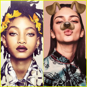 Willow Smith Creates Her Own Snapchat Filter For 'Garage' Magazine
