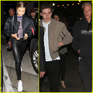 sofia richie brooklyn beckham cody simpson check out kanye west in concert