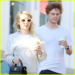 Emma Roberts & Evan Peters Step Out Together in LA