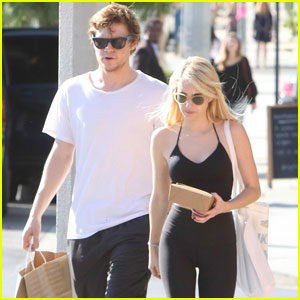 Emma Roberts Loves October Days With Evan Peters!