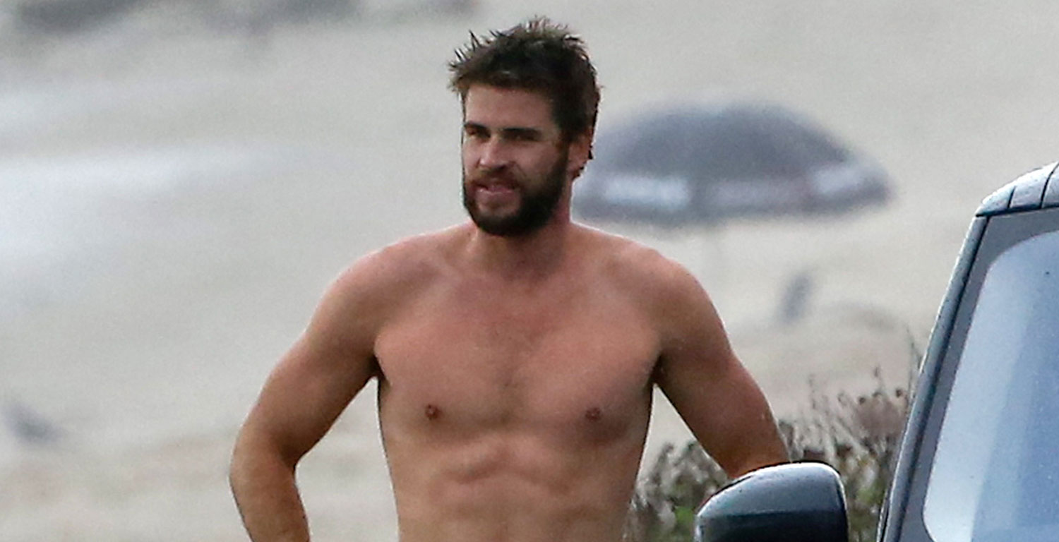 Liam Hemsworth Looks So Hot While Shirtless After Surfing ...