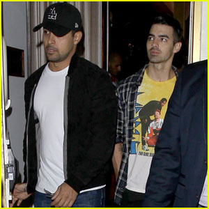 Joe Jonas Makes it a Guys' Night Out With Chord Overstreet & Wilmer Valderrama!