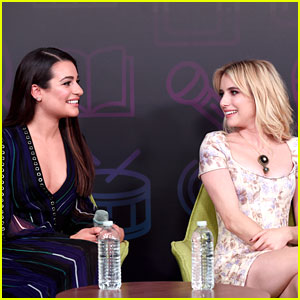 Lea Michele & Emma Roberts Bring 'Scream Queens' to EW PopFest!