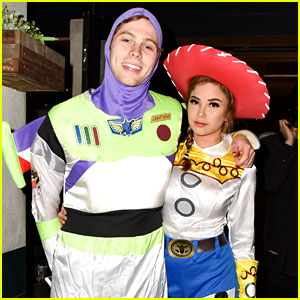 Luke Hemmings & Arzaylea Coordinate 'Toy Story' Costumes for JJ's Halloween Party!