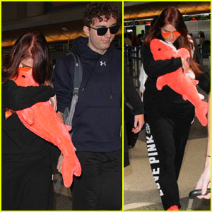 Meghan Trainor & Rumored BF Daryl Sabara Arrive at LAX