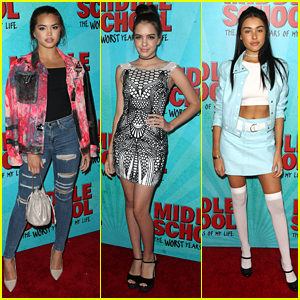 Paris Berelc & Lilimar Hit The Hollywood Premiere of 'Middle School' Movie