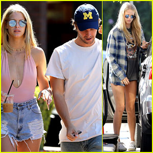 Patrick Schwarzenegger Grabs Afternoon Pick-Me-Up With Girlfriend Abby Champion