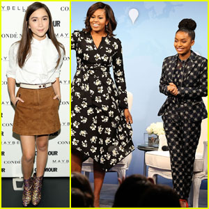 Rowan Blanchard & Yara Shahidi Spend Time With First Lady Michelle Obama!