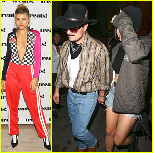 Sofia Richie & Josh Hutcherson Attend 'treats! Magazine' Halloween Party