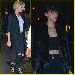 Kristen Stewart & St Vincent Couple Up for Dinner Date in NYC!