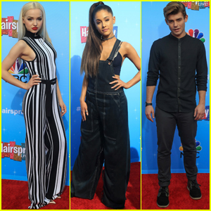 Dove Cameron & Ariana Grande Kick Off 'Hairspray Live!' Press Junket