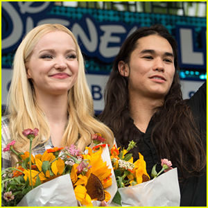 Dove Cameron & Booboo Stewart Spotted Filming 'Jolly To the Core' at Disneyland!