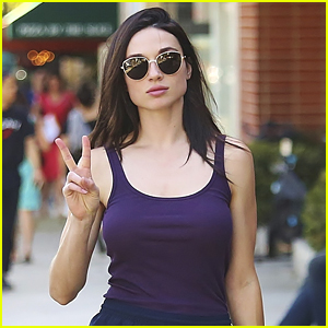 Crystal Reed Had Quite A Few Obstacles Voting on Election Day