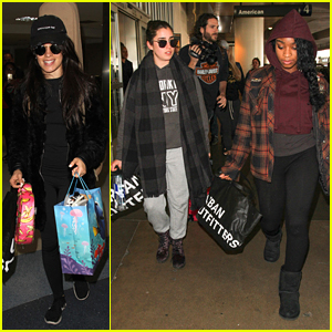 Fifth Harmony Arrive Back In LA Ahead of Friday's Jingle Ball!