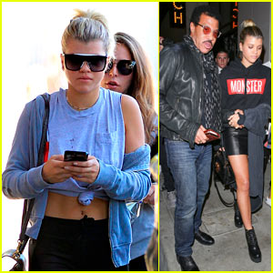 Sofia Richie Grabs Dinner with Dad Lionel in WeHo!
