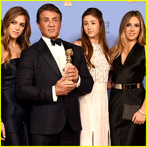 Miss Golden Globe 2017: The Stallone Sisters!