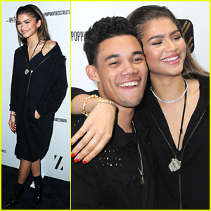 Zendaya Reunites With On-Screen Bros At LA Pop-Up Event