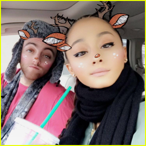 Ariana Grande Spends the Holidays With Boyfriend Mac Miller!