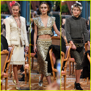 Cara Delevingne Rocks the Runway With Sofia Richie & Lily-Rose Depp