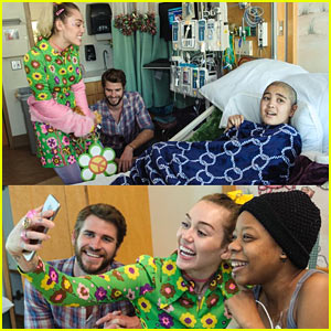 Miley Cyrus & Liam Hemsworth Spend the Day Hanging Out at Children's Hospital!