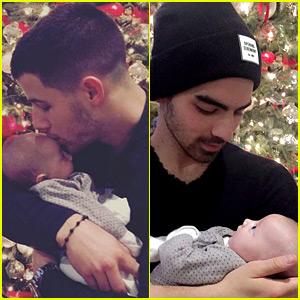 Nick & Joe Jonas Spend Christmas with Family (Including New Niece Valentina!)