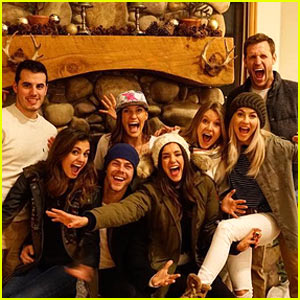 Julianne & Derek Hough Celebrate 'Friendsmas' with Nina Dobrev & Brooks Laich!
