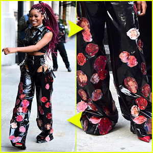 Keke Palmer Wears Leonardo DiCarprio's Faces On Her Pants!