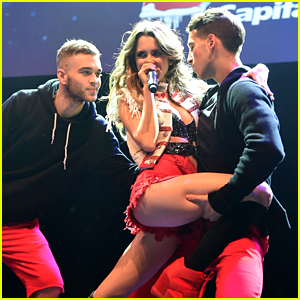 Laura Marano Gets Comzy & Cozy With Hot Guys at Z100's Jingle Ball Pre-Show!