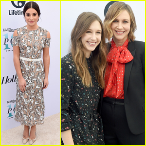 Lea Michele & Taissa Farmiga Support Ryan Murphy at THR's Women in Entertainment Breakfast