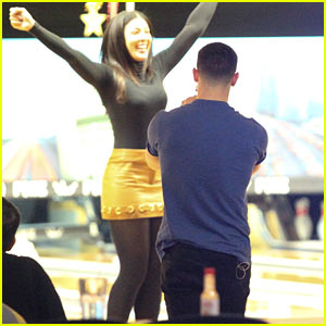 Nick Jonas Goes on Bowling Date With Mystery Brunette!