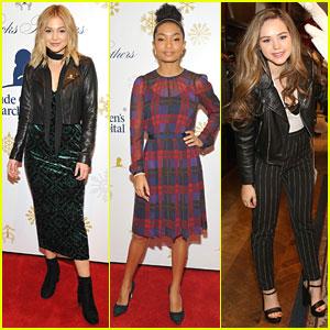 Olivia Holt, Yara Shahidi, & Brec Bassinger Show Off Fashion Style at Brooks Brothers Holiday Event