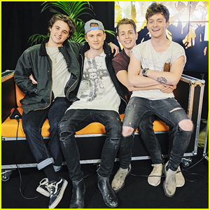 The Vamps' Connor Ball Sits on James McVey's Lap During Radio City Christmas Live!