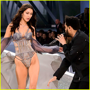 VIDEO: Bella Hadid Reunites with The Weeknd on VS Fashion Show Runway!
