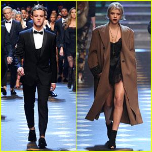 Cameron Dallas Is A Prince In Dolce&Gabbana Milan Fashion Show