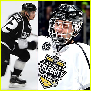Justin Bieber & Ross Lynch Hit the Ice at NHL's All-Star Celebrity Shootout