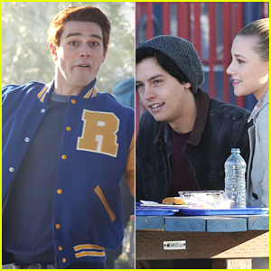 KJ Apa Can't Stop Making Funny Faces on 'Riverdale' Set