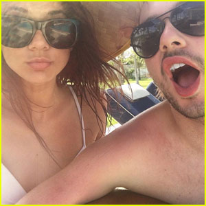VIDEO: 5SOS' Michael Clifford Kisses Girlfriend Crystal Leigh Under The Fireworks